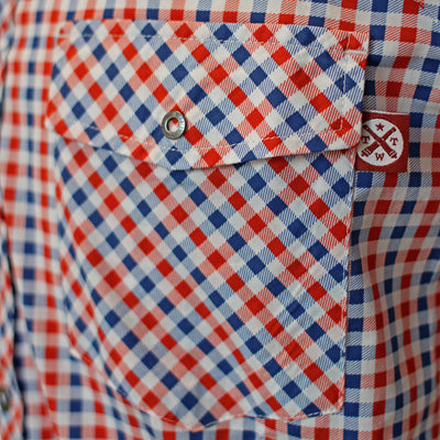 Gingham - El Capitan Snap Shirt (Blue / Red)