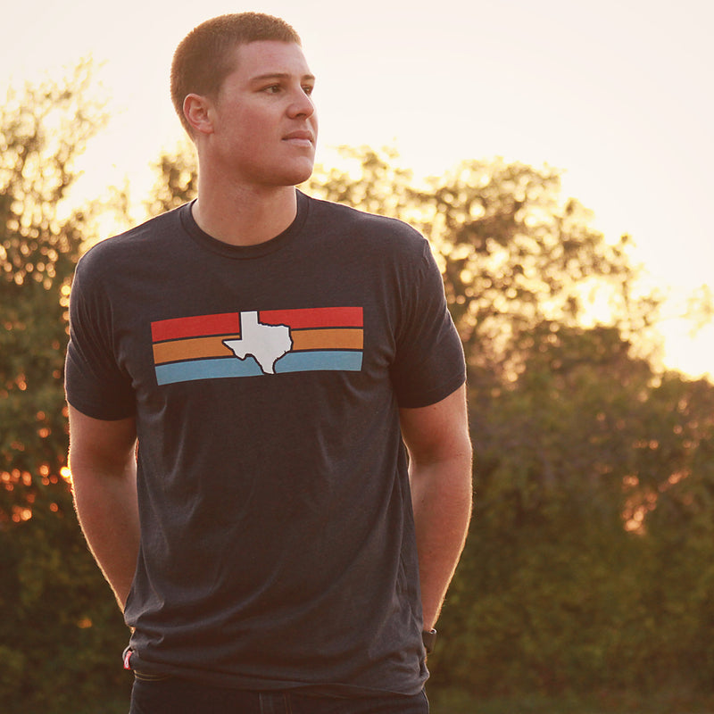 Texas Stripes T-Shirt - Tumbleweed TexStyles