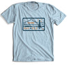 "95.3 KHYI ""The Range"" Landscape T-shirt (Light Blue) - Tumbleweed TexStyles"