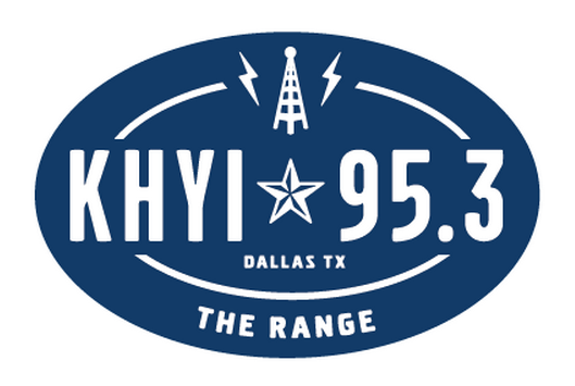 "95.3 KHYI ""The Range"" Logo T-shirt (Charcoal)"