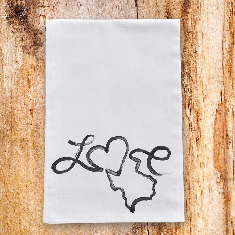 Love Texas Tea Towel - Tumbleweed TexStyles