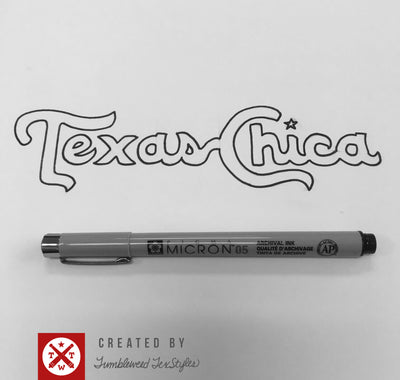 Texas Chica Sticker - Tumbleweed TexStyles