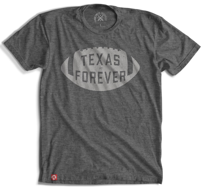 Texas Forever Football T-shirt - Gray