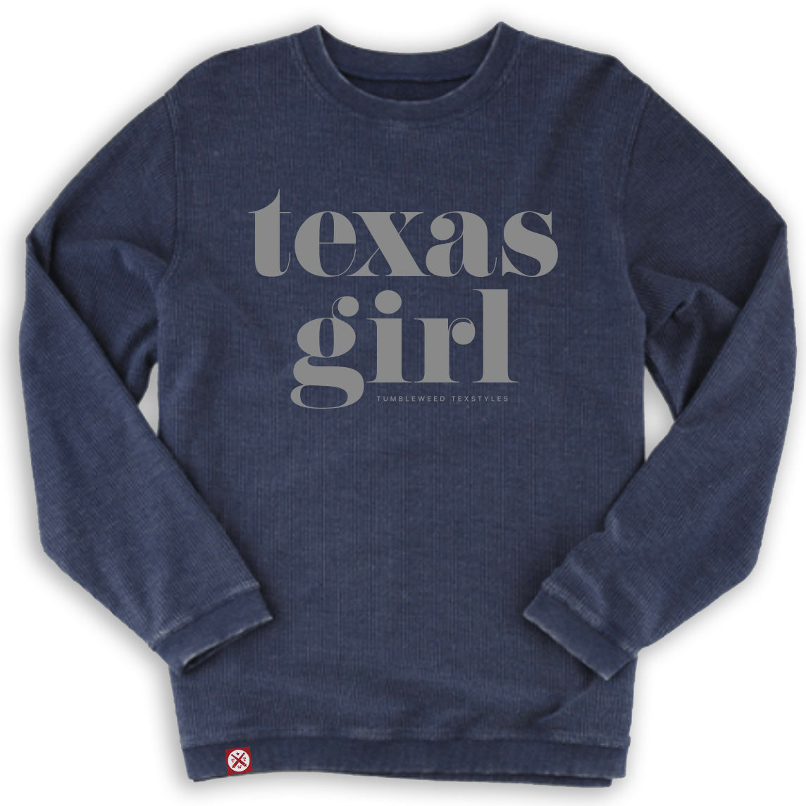 Texas Girl Washed Cord Sweatshirt