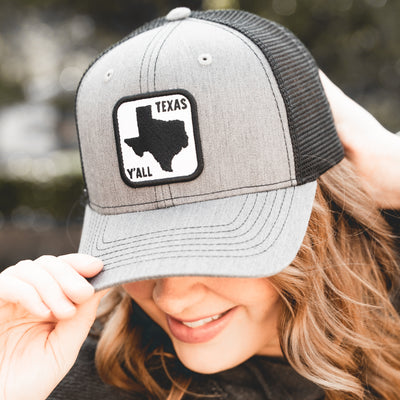 Texas Y'all Road Sign Patch Hat