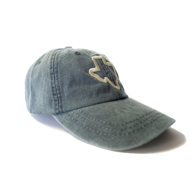 Thick Texas Outline - Washed Cotton Twill Hat (Navy) - Tumbleweed TexStyles