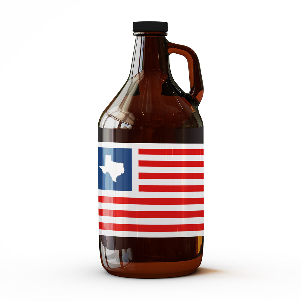 Patriotic Texas - 64 oz Growler