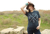 Big X Texas T-shirt (Navy) - Tumbleweed TexStyles