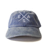 Big X Texas - Washed Cotton Twill Hat (Royal) - Tumbleweed TexStyles
