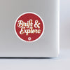 Drift & Explore Sticker