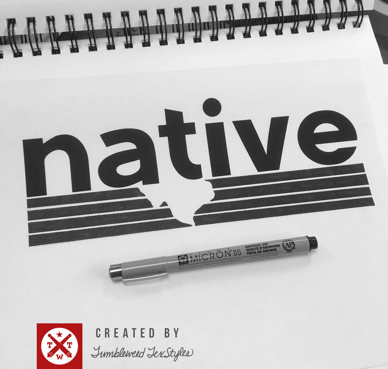 Native Texan Bumper Sticker - Tumbleweed TexStyles