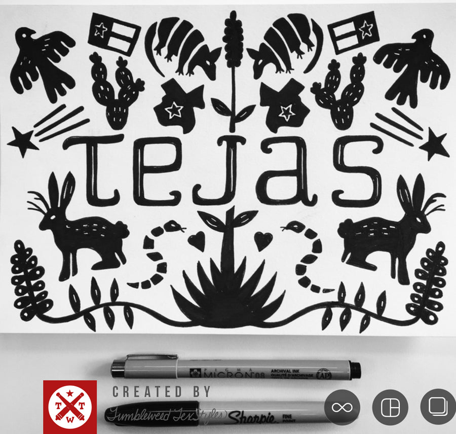 Texas Otomi T-Shirt