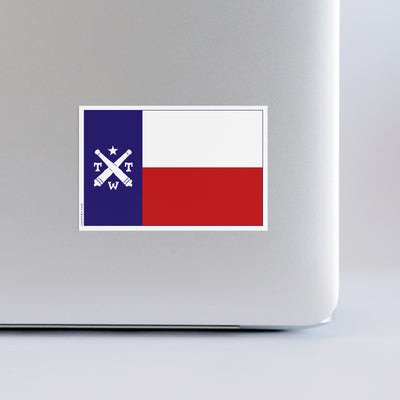 Texas Flag Logo Sticker