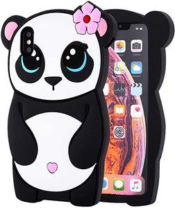 3D Cartoon Panda custodia for iPhone