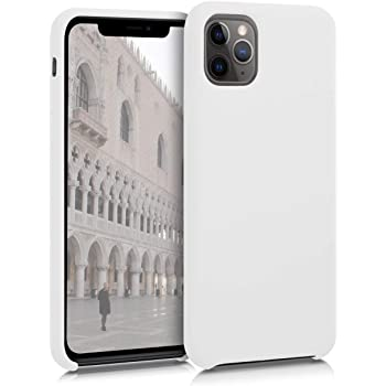 CUSTODIA IN SILICONE ORIGINALE APPLE IPHONE 11 PRO MAX BACK COVER BIANCO