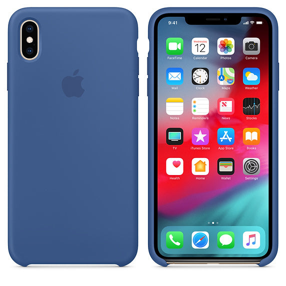 Apple MVF62ZM/A Silicone Case iPhone Xs Max Delft Blu Cover