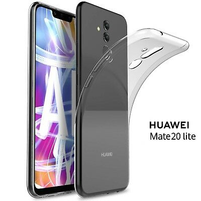 COVER per Huawei Mate 20 Lite CUSTODIA TPU UltraSlim Morbida Trasparente HD  Soft