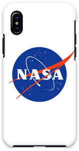 COVER NASA BIANCO per iPhone 3gs 4s 5/5s/c 6s 7 8 Plus X iPod