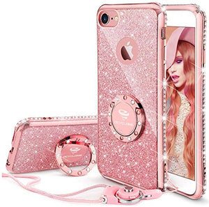 custodias for iPhone 6 Plus with Glitter