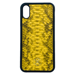 Cover Bianca Iphone XR in pelle di Pitone - Andrea Morante ®️