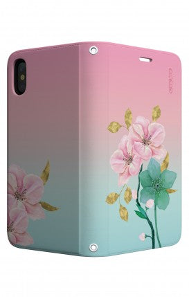 Cover Bicomponente Apple iPhone XS MAX - Farfalle su bianco