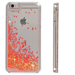 "Cover Iphone 6/6S ""Moving Red glitter"