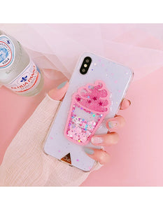Cover iPhone 6/6//7 unicorni liquida