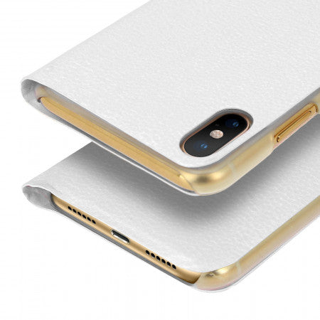 Custodia a Libro Flip Book Cover Bianca per Apple iPhone XS Max - - cifnet