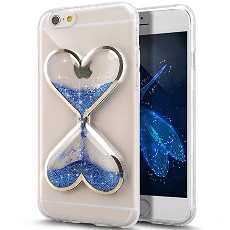 Custodia iPhone 7 Cover iPhone 8 Trasparente Brillantini Cover