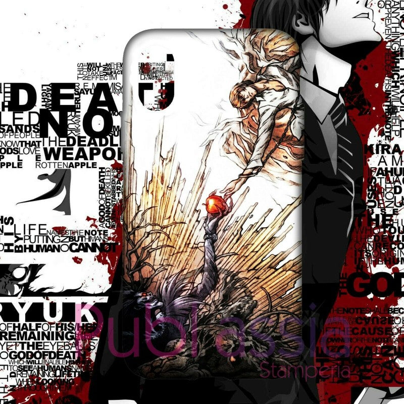 Death Note Cover Custodia iPhone Samsung Anime Manga Light Yagami