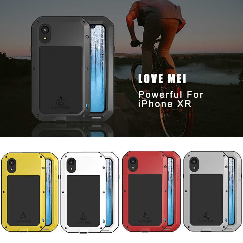 For iphone XR Case Waterproof Cover for iphone XR Aluminum Metal