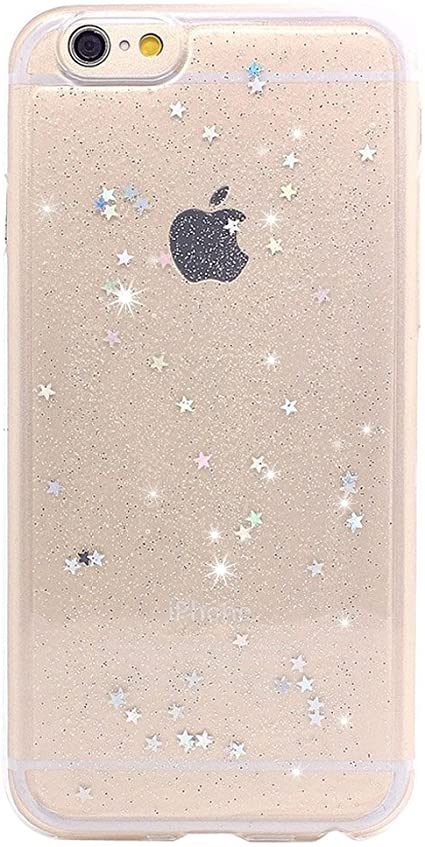 Glitter Back Cover custodia For Iphone 6 6s