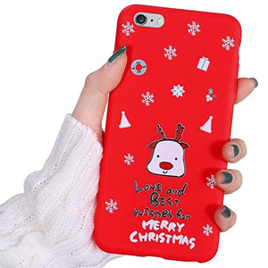 Hpory Custodia iPhone 6 Cover iPhone 6S Natale Serie del Fiocco di