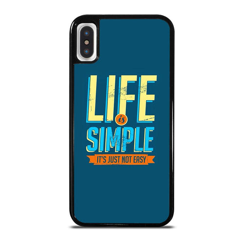coque custodia cover fundas iphone 11 pro max 5 6 7 8 plus x xs xr se2020 C24210 LIFE IS SIMPLE QUOTE iPhone X / XS Case