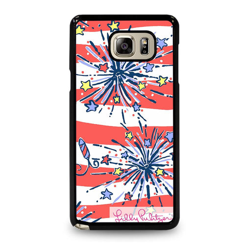 coque custodia cover fundas hoesjes j3 J5 J6 s20 s10 s9 s8 s7 s6 s5 plus edge D31937 LILLY PULITZER JULY 4th #1 Samsung Galaxy Note 5 Case