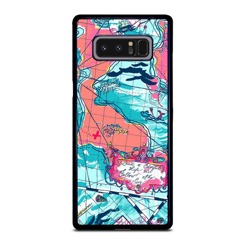 coque custodia cover fundas hoesjes j3 J5 J6 s20 s10 s9 s8 s7 s6 s5 plus edge D31956 LILLY PULITZER MAP Samsung Galaxy Note 8 Case