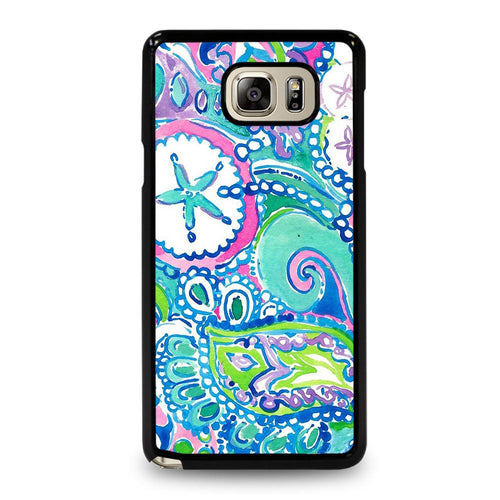 coque custodia cover fundas hoesjes j3 J5 J6 s20 s10 s9 s8 s7 s6 s5 plus edge D31988 LILLY PULITZER STAR Samsung Galaxy Note 5 Case