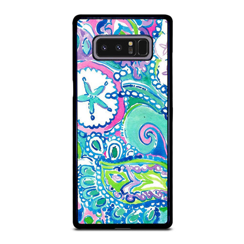 coque custodia cover fundas hoesjes j3 J5 J6 s20 s10 s9 s8 s7 s6 s5 plus edge D31989 LILLY PULITZER STAR Samsung Galaxy Note 8 Case