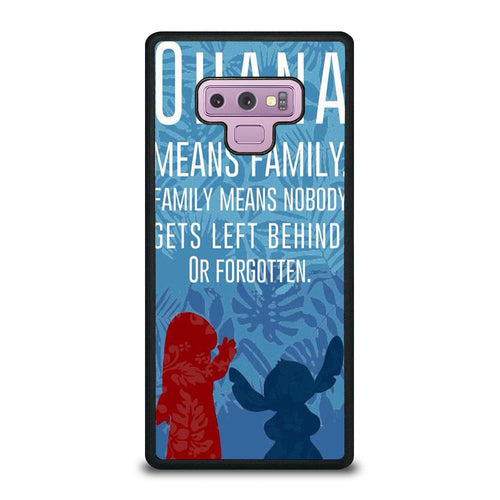 coque custodia cover fundas hoesjes j3 J5 J6 s20 s10 s9 s8 s7 s6 s5 plus edge D32066 LILO AND STITCH FAVORITE QUOTES Samsung Galaxy Note 9 Case