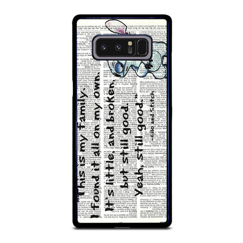 coque custodia cover fundas hoesjes j3 J5 J6 s20 s10 s9 s8 s7 s6 s5 plus edge D32089 LILO AND STITCH QUOTES DISNEY Samsung Galaxy Note 8 Case
