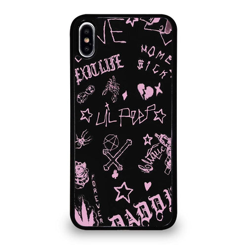 coque custodia cover fundas iphone 11 pro max 5 6 7 8 plus x xs xr se2020 C24254 LIL PEEP LIFE IS BEAUTIFUL iPhone XS Max Case