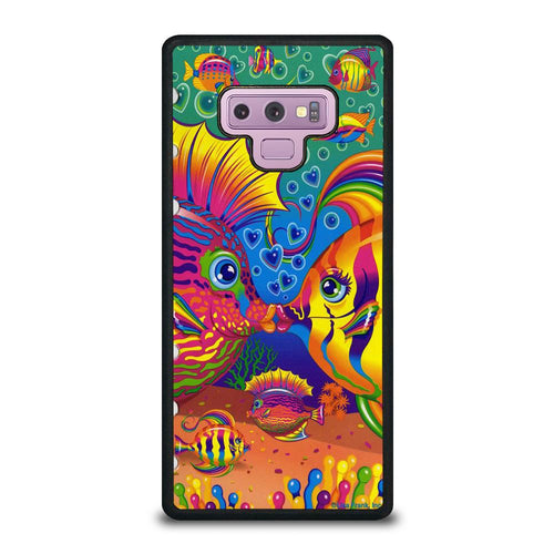 coque custodia cover fundas hoesjes j3 J5 J6 s20 s10 s9 s8 s7 s6 s5 plus edge D32222 LISA FRANK FISH Samsung Galaxy Note 9 Case