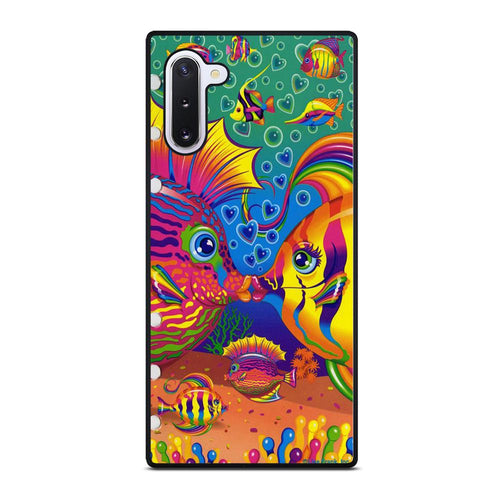 coque custodia cover fundas hoesjes j3 J5 J6 s20 s10 s9 s8 s7 s6 s5 plus edge D32218 LISA FRANK FISH Samsung Galaxy Note 10 Case