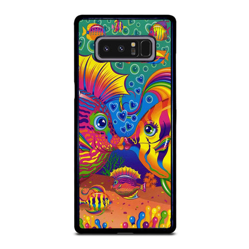 coque custodia cover fundas hoesjes j3 J5 J6 s20 s10 s9 s8 s7 s6 s5 plus edge D32221 LISA FRANK FISH Samsung Galaxy Note 8 Case