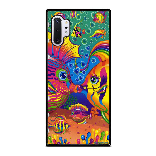 coque custodia cover fundas hoesjes j3 J5 J6 s20 s10 s9 s8 s7 s6 s5 plus edge D32219 LISA FRANK FISH Samsung Galaxy Note 10 Plus Case