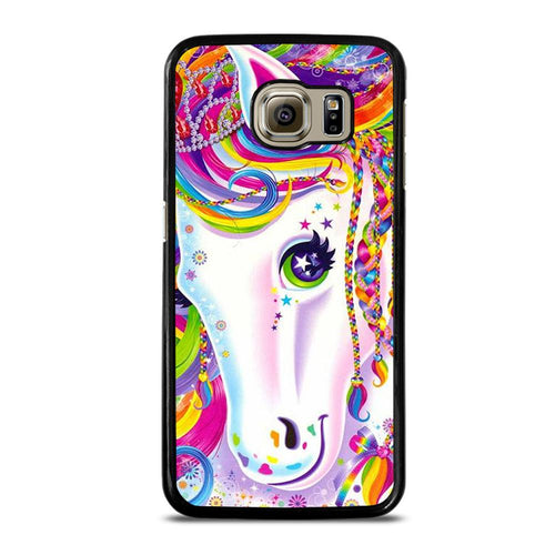 coque custodia cover fundas hoesjes j3 J5 J6 s20 s10 s9 s8 s7 s6 s5 plus edge D32258 LISA FRANK HORSE #1 Samsung Galaxy S6 Case