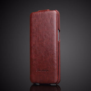 Luxury Vertical Flip Leather custodia For