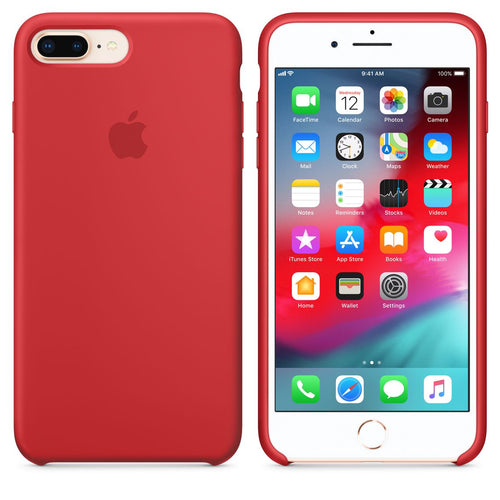 Apple Custodia IPhone 8 7 Plus Silicone - Red Mqh12zm A Custodia Cover  Iphone