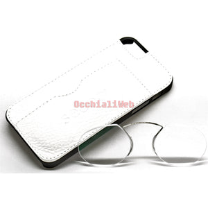 Occhialiweb.com: CUSTODIA-COVER IPHONE 5 IN PELLE BIANCO CON