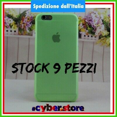 STOCK LOTTO 25 PEZZI cover custodia IPHONE 6 6S ultra sottile 0.28